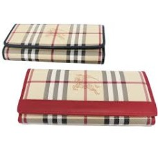 CARTEIRA BURBERRY CHECK BELLFIELD
