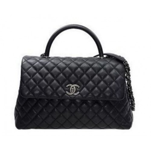 39bbf1faa BOLSA CHANEL COCO LIZARD GRAINED FLAP HANDLE