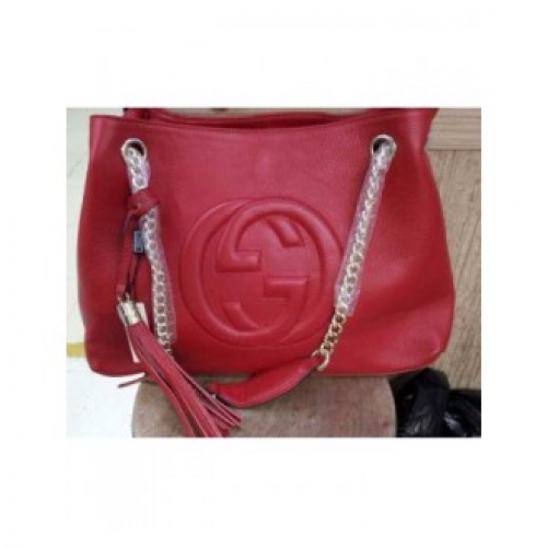 696bd1b0f BOLSA GUCCI SOHO LEATHER SHOULDER BAG